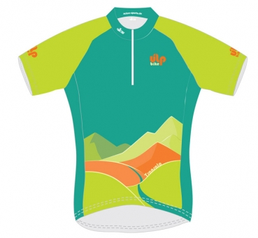Damen Transalp Trikot Green Mountains